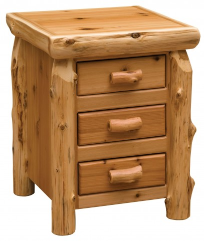 Traditional Cedar 3 Drawer Nightstand