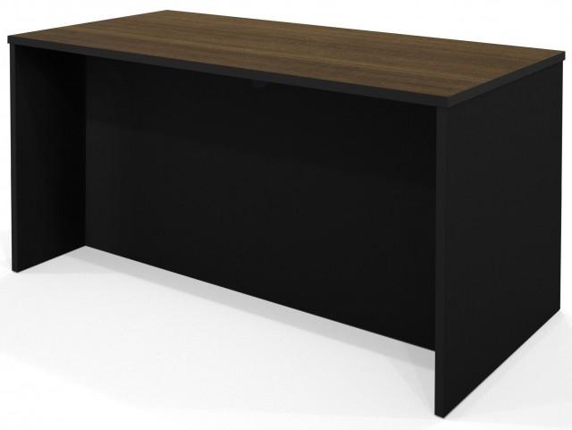 Pro-Concept Milk Chocolate Bamboo & Black Executive Desk