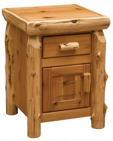 Traditional Cedar Enclosed Nightstand