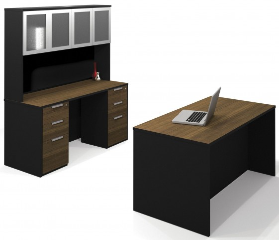 Pro-Concept Milk Chocolate Bamboo & Black Executive Office Set