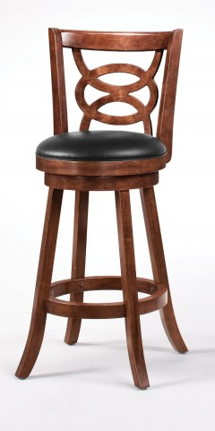 "101930 Cappuccino 29"" Swivel Bar Stool Set of 2"