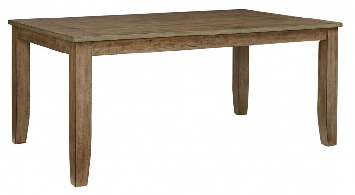 Vintage Weathered Grey Rectangular Leg Dining Table