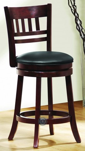 Edmond Swivel Dark cherry Counter Height Chair Set of 2