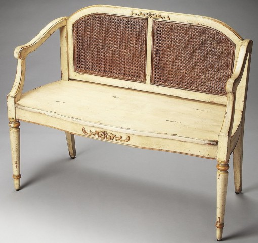 Grayson Artists' Originals Cream & Gold Bench
