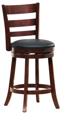 Edmond Swivel Dark Cherry Counter Chair Set of 2