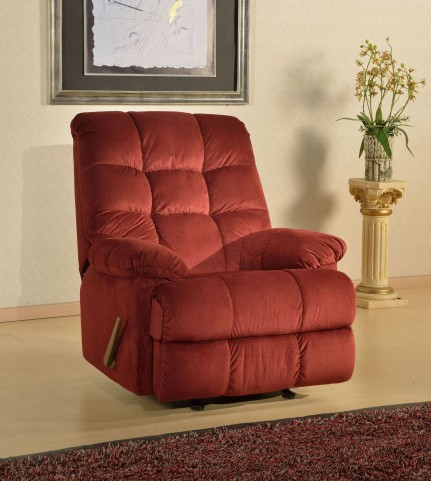 Weaver Night Party Burgundy Rocker Recliner