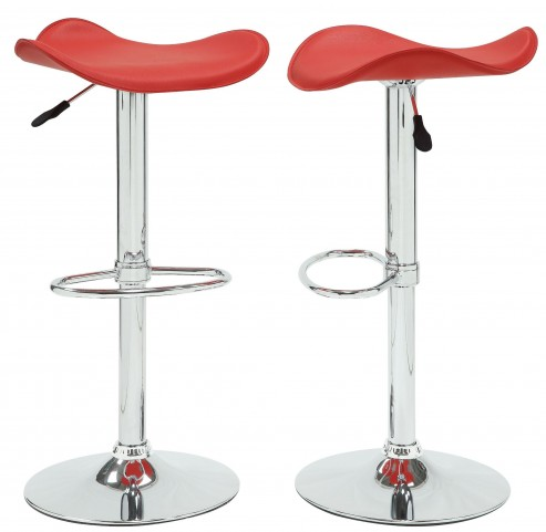 1146RED Ride Airlift Red Swivel Stool