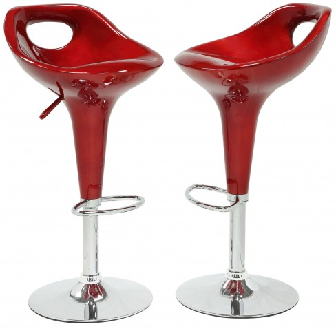 1147RED Ride Airlift Red Swivel Stool