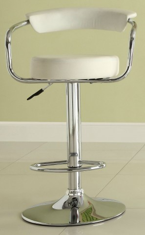 1149WHT Ride Airlift White Swivel Stool