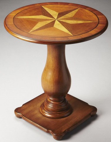 Edenbridge Masterpiece Olive Ash Burl Pedestal Table