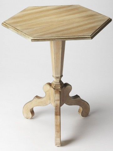 Plantation Cherry Corbin Driftwood Hexagonal Accent Table