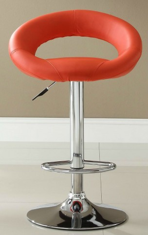 1155RED Ride Airlift Red Swivel Stool