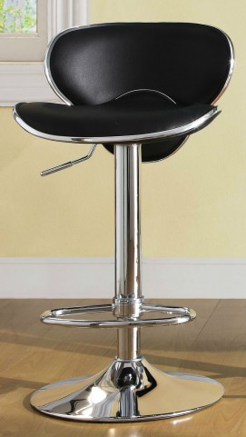 1156BLK Ride Airlift Black Swivel Stool
