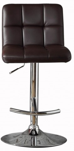 Ride Brown Bonded Leather Airlift Swivel Stool