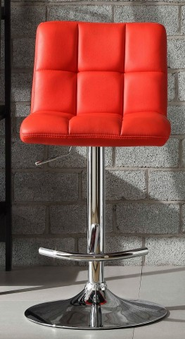 Ride Red Bonded Leather Airlift Swivel Stool