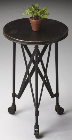 1168025 Industrial Chic Metalworks Accent Table