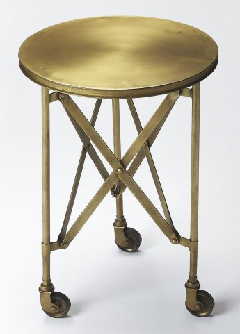 Industrial Chic Costigan Antique Gold Accent Table