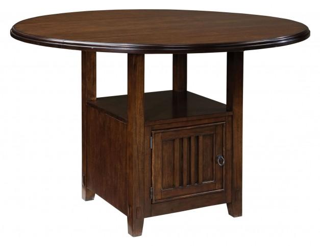 Sonoma Warm Medium Oak Round Drop Leaf Counter Height Table