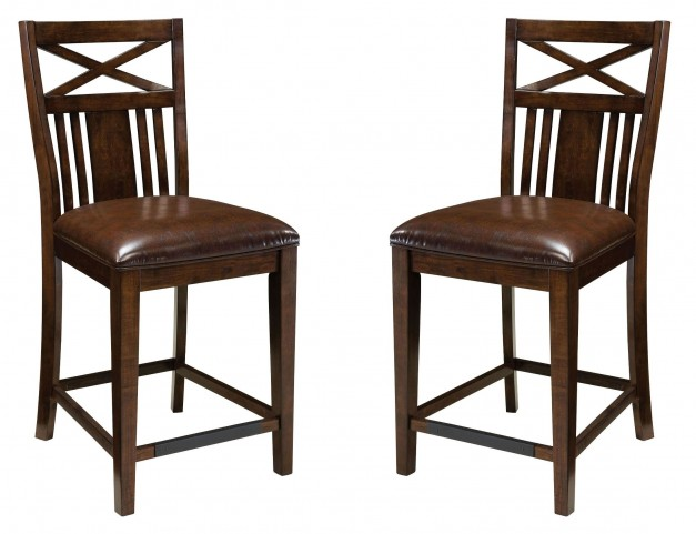 Sonoma Warm Medium Oak Seat Height Bar stool Set of 2