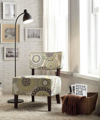 Orson Green and gray Accent Chair