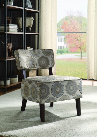 Orson gray and Brown Accent Chair