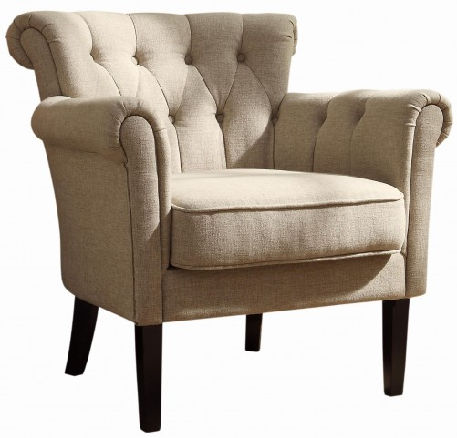 Barlowe Dark Cherry Oatmeal Accent Chair