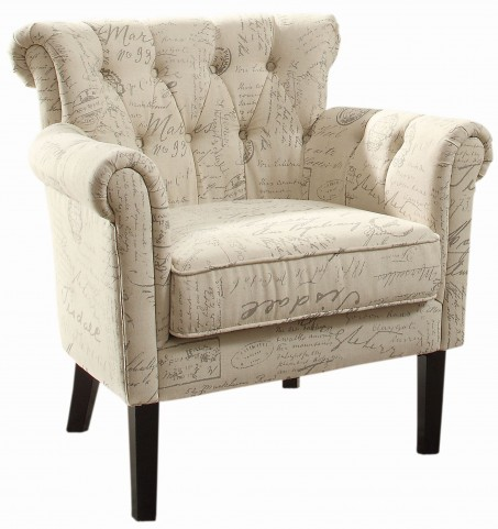 Barlowe French Note Accent Chair