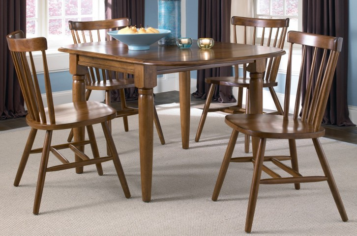Creations II Tobacco Drop Leaf Extendable Dining Room Set