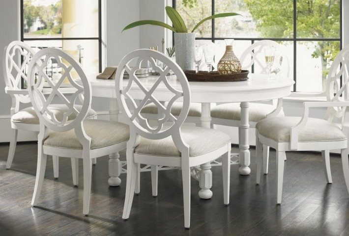 Ivory Key Knapton Hill Extendable Round Dining Room Set