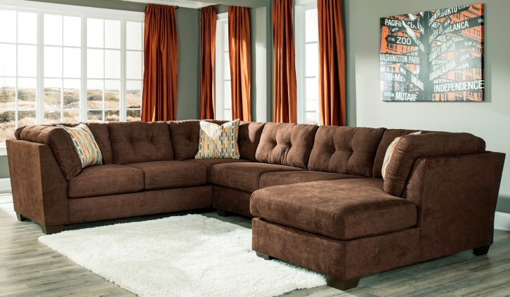 Delta City Chocolate RAF Sectional