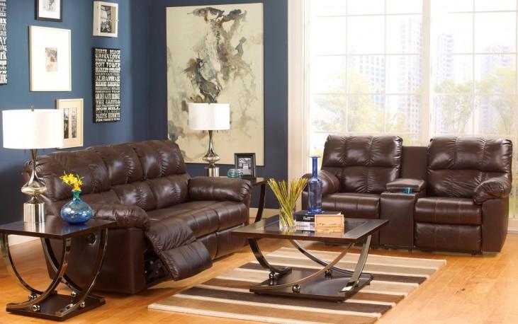 Kennard Chocolate Living Room Set