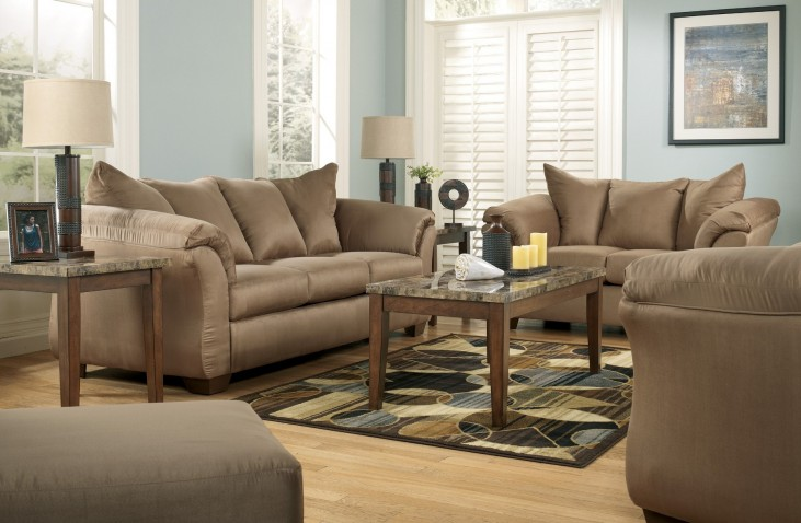 Darcy mocha living room set from ashley 75002 coleman for 17 x 11 living room