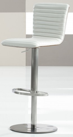 Argenta White Finish Hydraulic Bar Stool
