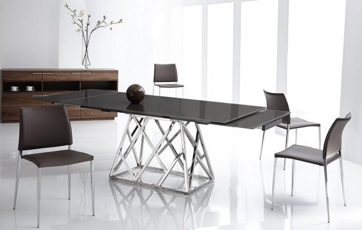 Twist Black Extendable Rectangular Dining Room Set