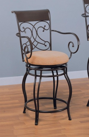 "Dark Brown 24"" Counter Height Stool"