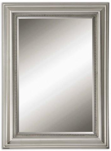 Stuart Silver Beaded Mirror