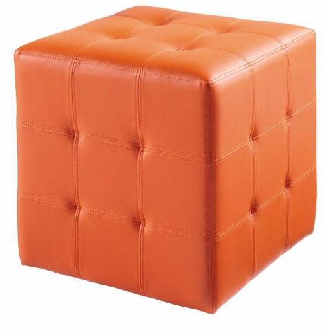 Dario Orange Ottoman