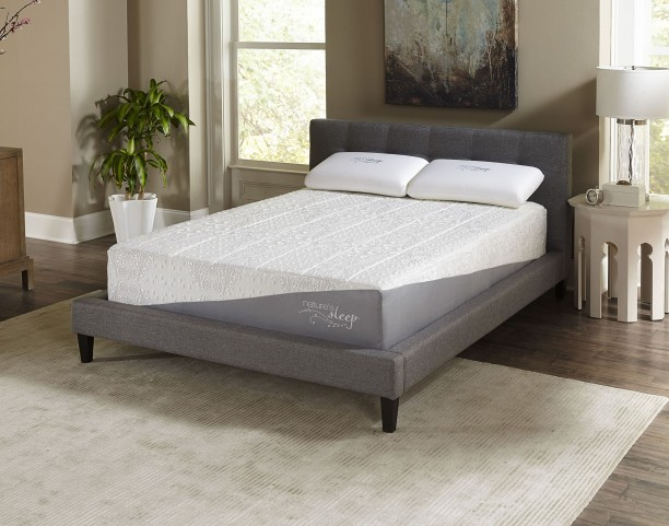 "12"" Gel Memory Foam Queen Firm Mattress"