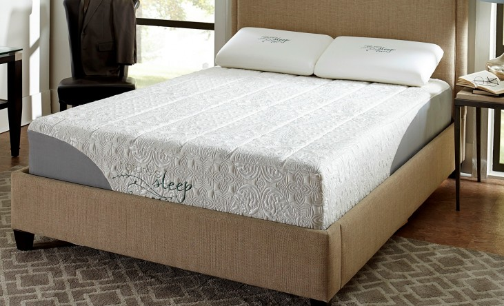 "12"" Gel Memory Foam Cal. King Plush Mattress"