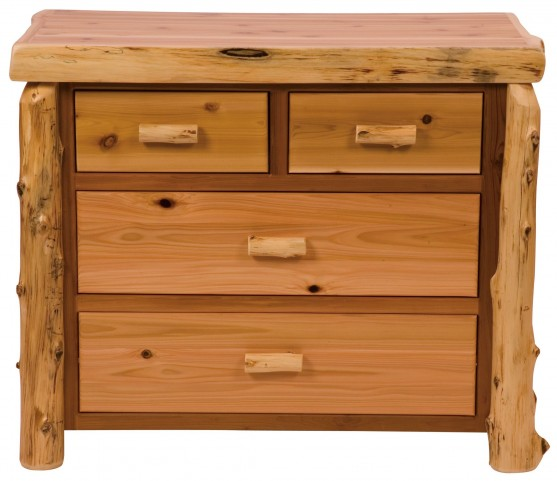 Traditional Cedar Value Four Drawer Low Boy