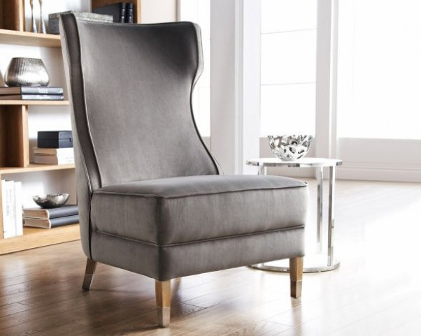 Frances Chair Reclaimed Leg In Grey
