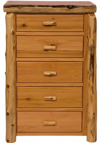 Vintage Cedar Value Five Drawer Chest