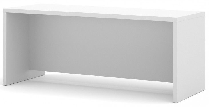 Pro-Linea White Executive Desk