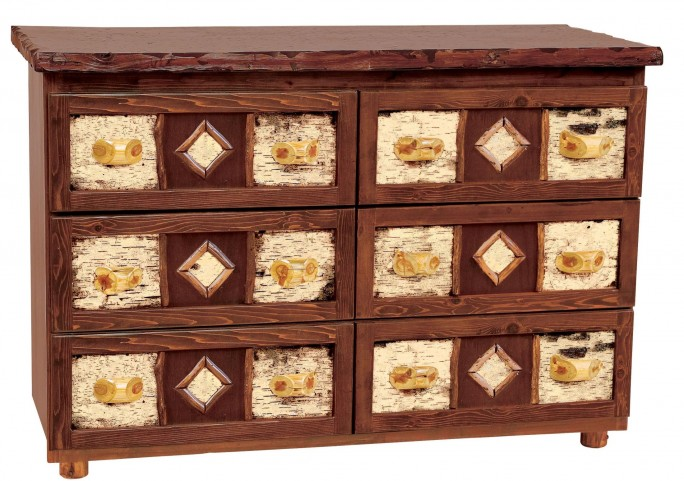 Cedar Adirondack Value Six Drawer Dresser