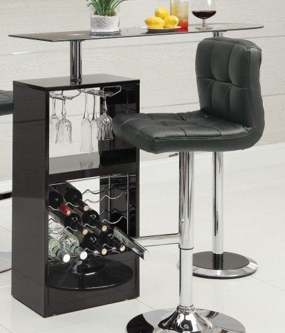 Black Revolving Bar Table 120451
