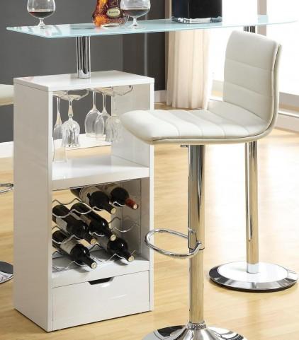 White Revolving Bar Table 120452