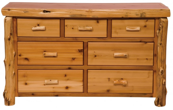 Traditional Cedar Value Seven Drawer Dresser