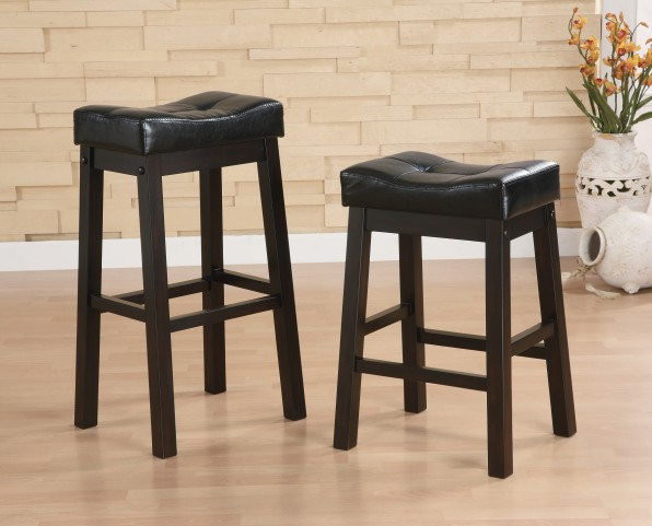 "Sophia 29"" Bar Stool With Plush Upholstered Seat Set of 2"