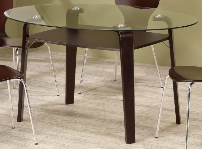 Orval Cappuccino Round Dining Table