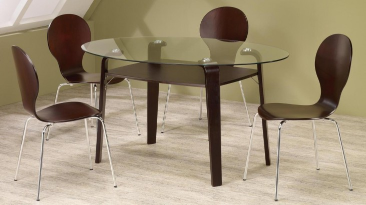 Orval Cappuccino Round Dining Room Set